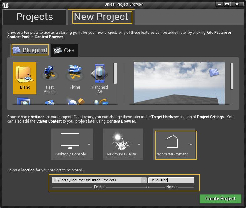 Magic Leap Remote - Hello, Cube! Unreal Engine 4 Edition