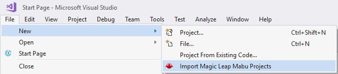 Visual Studio 2017 Projects | Magic Leap
